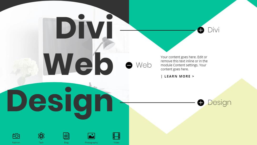 Osztott design lenyitható szövegfüllel