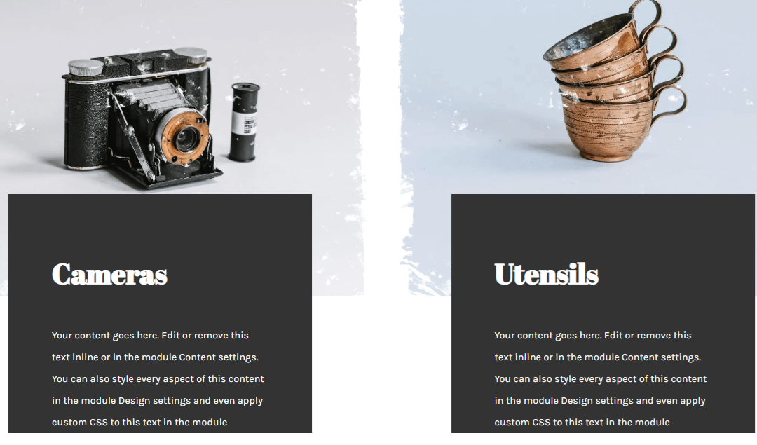 Vintage termékkategória design
